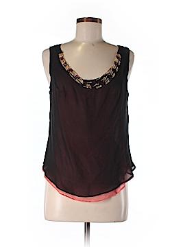 Silk Box Sleeveless Silk Top Size 6