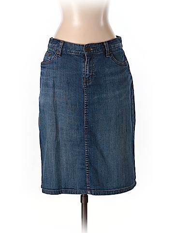 Lauren by Ralph Lauren Women Denim Skirt Size 2 (Petite)