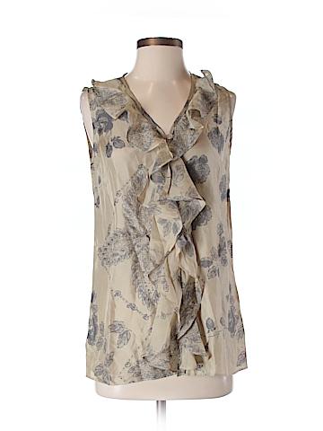 CAbi Women Sleeveless Silk Top Size XS