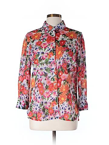 HD in Paris Long Sleeve Button-Down Shirt Size 12