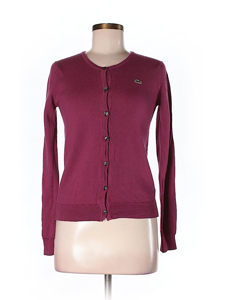 lacoste 100 wool solid pink wool cardigan size 40 eu 84 off thredup. Black Bedroom Furniture Sets. Home Design Ideas
