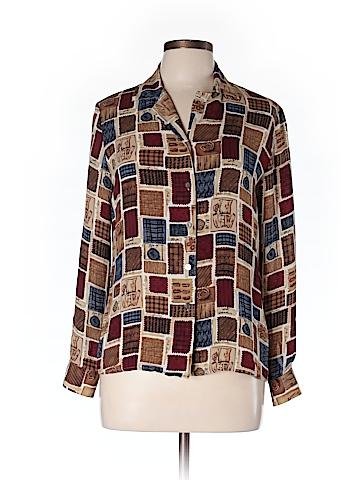 Talbots Long Sleeve Silk Top Size 10