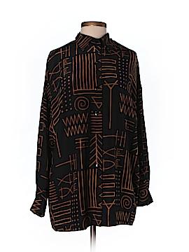 Linda Allard Ellen Tracy Long Sleeve Silk Top Size P