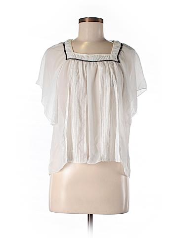 Costa Blanca Short Sleeve Blouse Size M