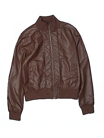 Xhilaration Women Faux Leather Jacket Size L