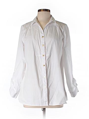 Anne Klein Long Sleeve Button-Down Shirt Size L