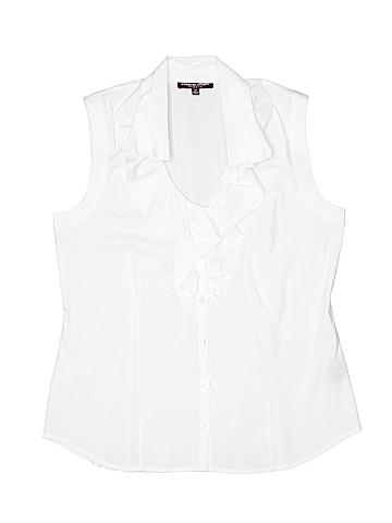 Adriana Sleeveless Button-Down Shirt Size 10