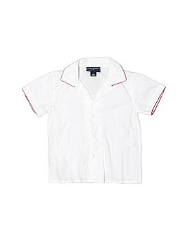Oscar De La Renta Short Sleeve Button-Down Shirt Size 2
