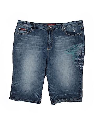 Baby Phat Denim Shorts Size 24 (Plus)