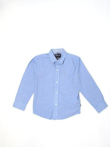Nautica Long Sleeve Button-Down Shirt Size Large kids6/7