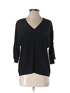 Ecru 3/4 Sleeve Silk Top Size XS