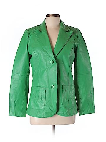 Metro Style Leather Jacket Size 10 (Tall)