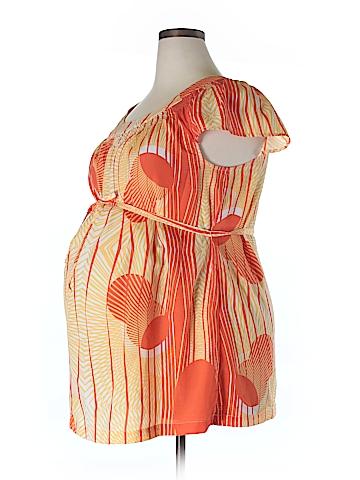 Liz Lange Maternity Short Sleeve Blouse Size XXL (Maternity)