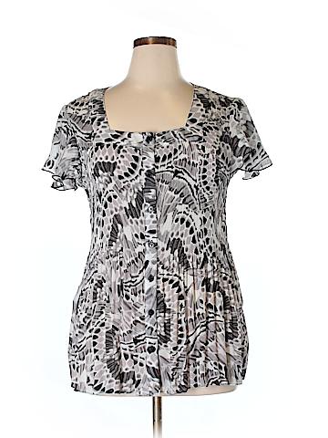 Serenade Short Sleeve Blouse Size 2X (Plus)