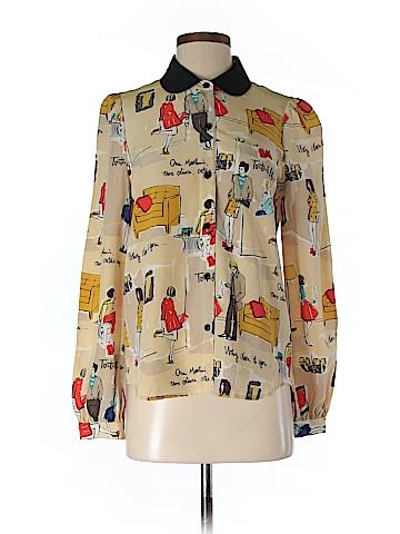 Kate Spade New York Long Sleeve Silk Top Size 4