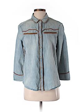 All Saints Long Sleeve Button-Down Shirt Size 8