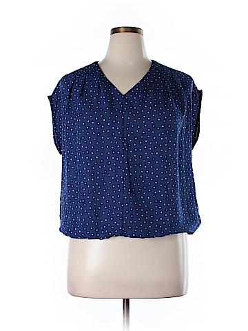 Lands' End Short Sleeve Blouse Size 14 (Petite)