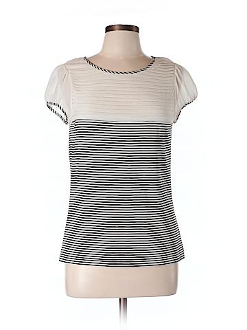 Alice + olivia Short Sleeve Silk Top Size L