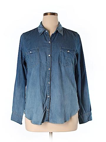 Democracy  Long Sleeve Button-Down Shirt Size XL