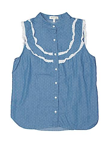 Monteau Sleeveless Button-Down Shirt Size L