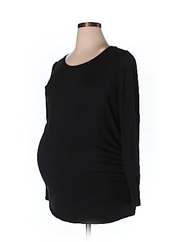 Bump Start by Motherhood Maternity 3/4 Sleeve Top Size XL (Maternity)