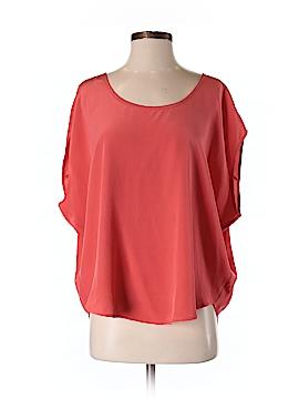 Emerson Thorpe Short Sleeve Silk Top Size S
