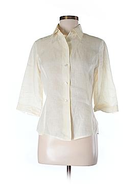Linda Allard Ellen Tracy 3/4 Sleeve Button-Down Shirt Size 6 (Petite)