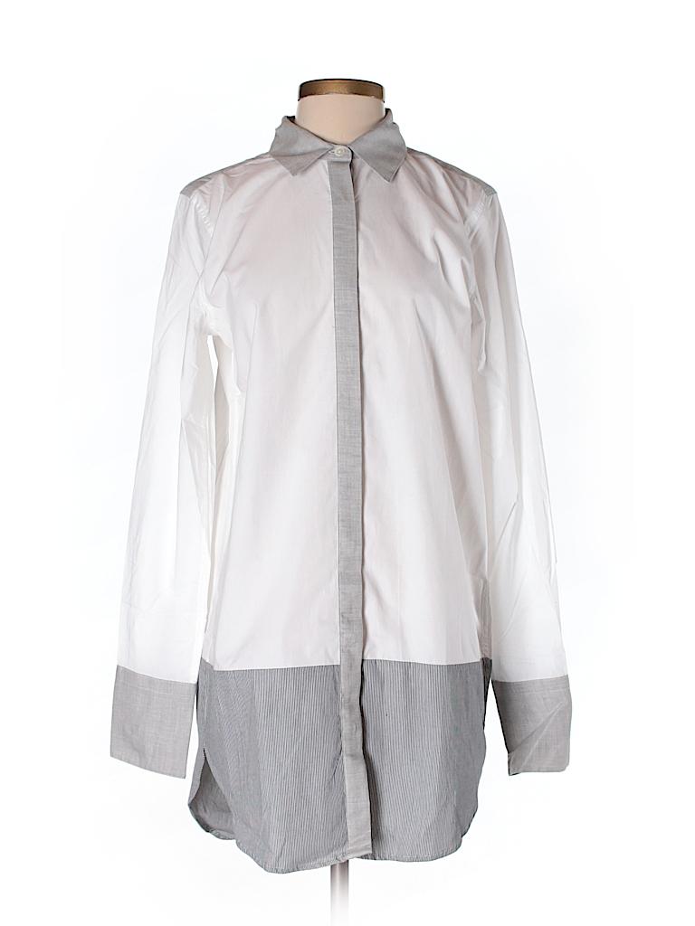 Banana republic long sleeve button down shirt 70 off for Womens tall button down shirts