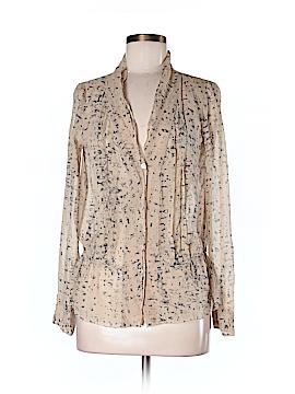 Eliot Long Sleeve Silk Top Size M