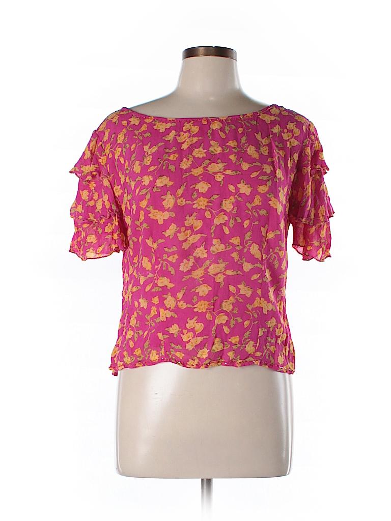 Papillon Women Short Sleeve Blouse Size L