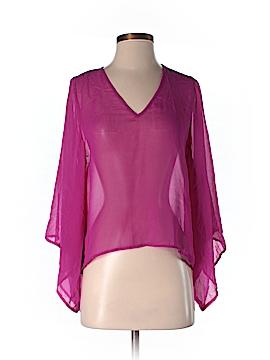 Ya Los Angeles Long Sleeve Silk Top Size S