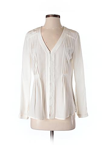 Patterson J. Kincaid Long Sleeve Silk Top Size S