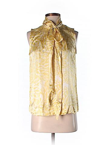 CAbi Sleeveless Silk Top Size S