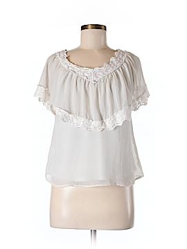 Ultra Pink Short Sleeve Blouse Size 8