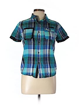 Sean John Short Sleeve Button-Down Shirt Size L