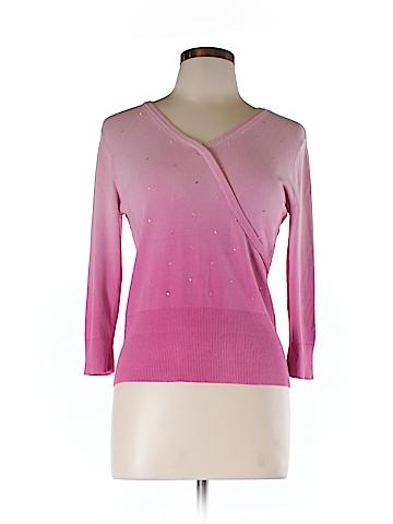 Style&Co Silk Pullover Sweater Size L (Petite)