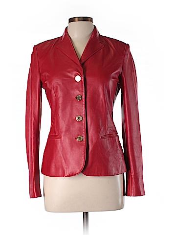 Ralph Lauren Black Label Leather Jacket Size 8