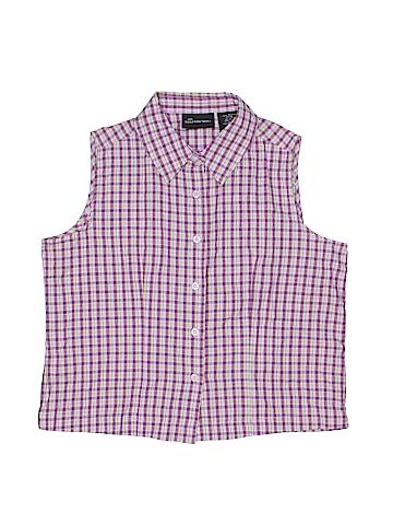 No Boundaries Sleeveless Button-Down Shirt Size M