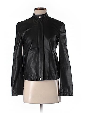 Weekend Max Mara Leather Jacket Size 4