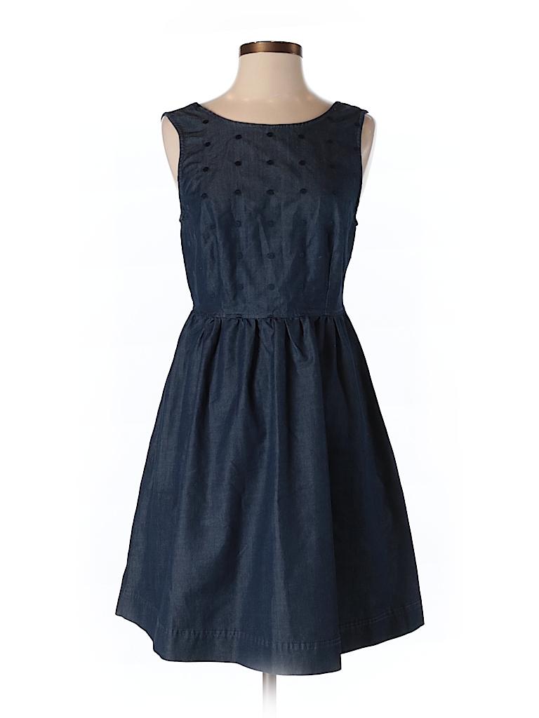 Quiksilver polka dots dark blue casual dress size s 76 for Bureau quiksilver