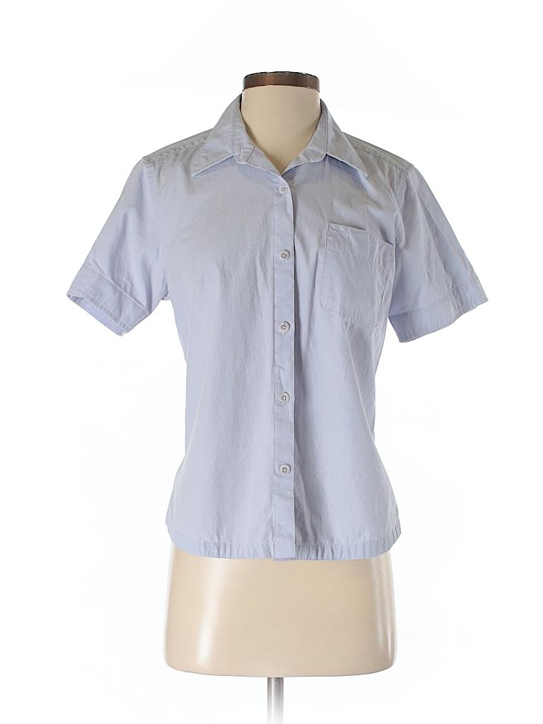 Columbia 100 Cotton Solid Light Purple Short Sleeve