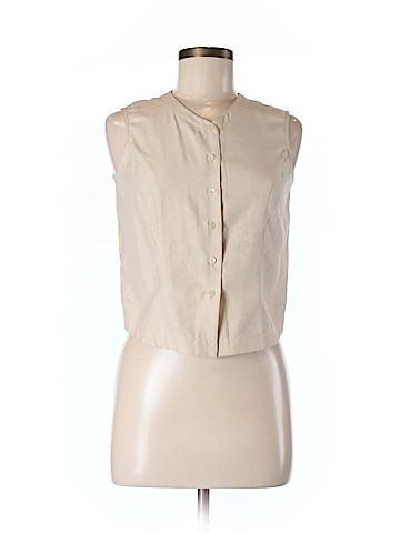Ann Taylor LOFT Women Sleeveless Silk Top Size 6 (Petite)