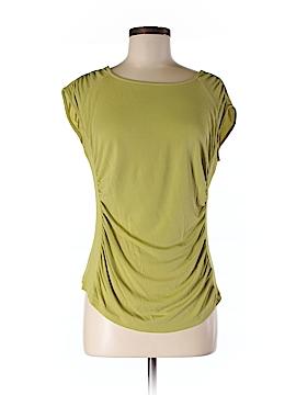 Lafayette 148 New York Short Sleeve Silk Top Size M