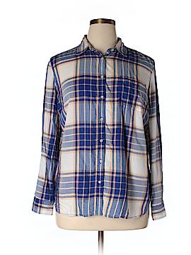 Stylus Long Sleeve Button-Down Shirt Size XL (Petite)