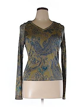 Carlisle Long Sleeve Silk Top Size XL