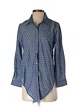 Black Rainn Long Sleeve Button-Down Shirt Size S