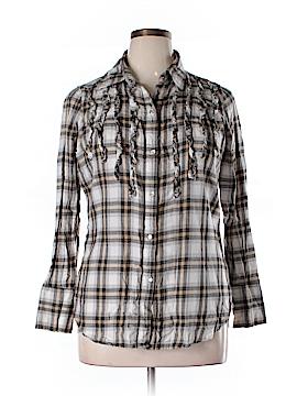 Seven7 Long Sleeve Button-Down Shirt Size 14 - 16