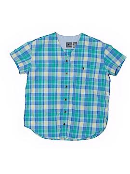 Lizwear by Liz Claiborne Short Sleeve Button-Down Shirt Size M