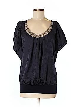 Velvet Short Sleeve Silk Top Size M