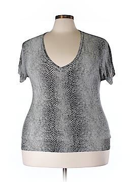 MICHAEL Michael Kors Short Sleeve Silk Top Size XL